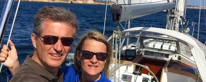 Biggi und Torsten Krumm an Bord ihrer SY Victoria