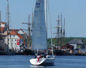 Im Hafen: Segelyacht