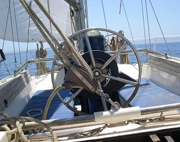Segelboot Steuerrad