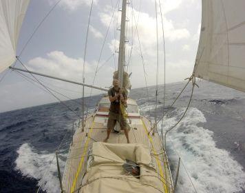 Die Atanga bei der Atlantiküberquerung