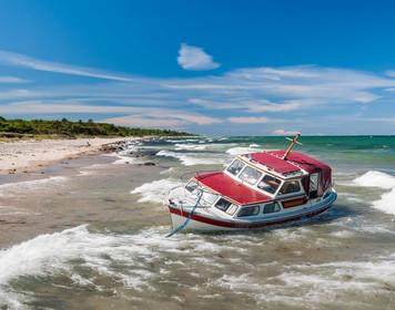 Charter-Folgeschadenversicherung: gestrandete Yacht