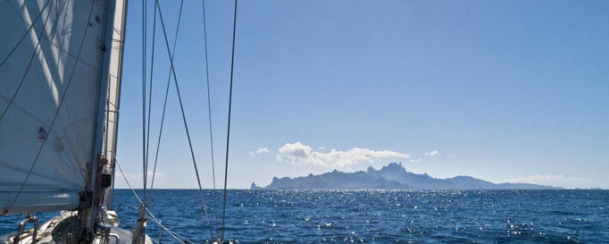 Segelschiff in der Südsee