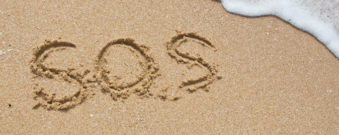 Mittel gegen Seekrankheit: SOS im Sand