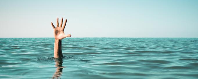 Seekrankheit vorbeugen: Mann über Bord