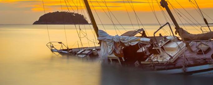 Segelboottyp Ketsch in Schräglage