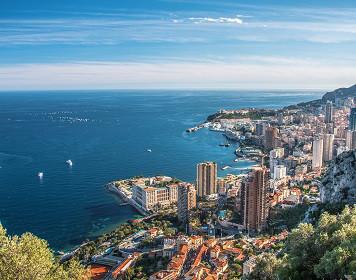 Monaco an der Côte d'Azur