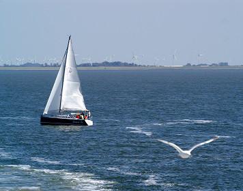 Segelboot auf der Nordsee