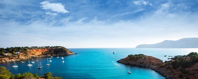 Segeln Balearen: Felsige Bucht