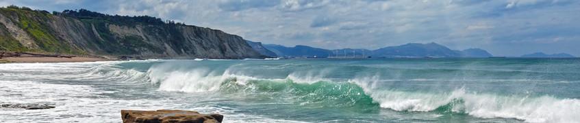 Wellen Segeln Biskaya