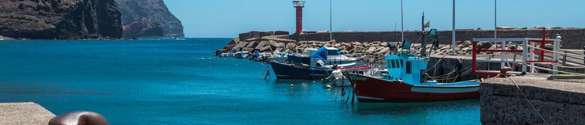 Segeln Kanaren: Segelboote im Anlegehafen