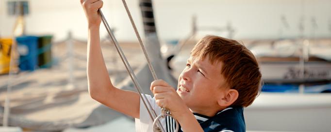 Jüngstenschein: Kind an Bord
