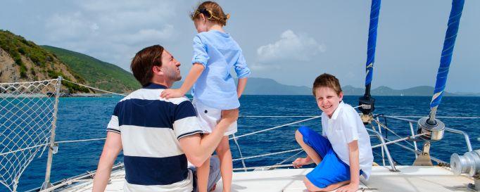 Segeln mit Kindern: Kinder an Bord