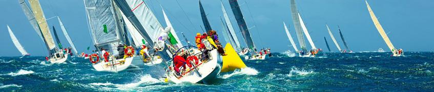 SHS: Viele Sportsegelboote auf See