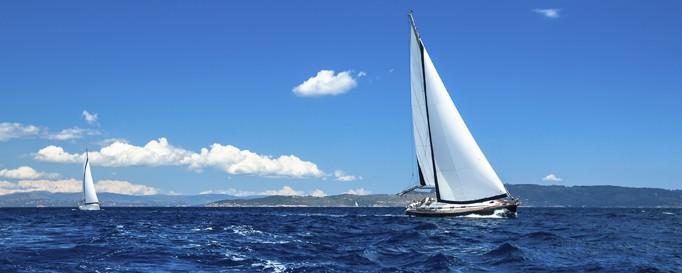 Segeln Nord- und Ostsee: Segelboote auf See