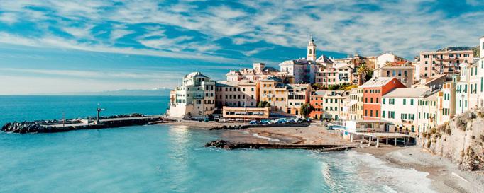 Segeln Italien: Hausbebaute Küste