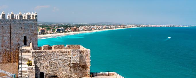 Segeln Valencia: Festung an der Küste