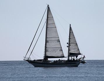 Segelboot während eines Törns