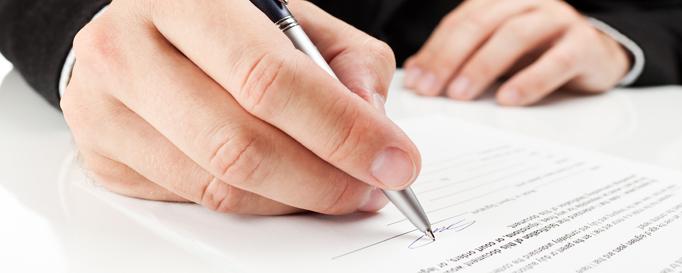 Skipper-Rechtsschutzversicherung: Unterschrift setzen
